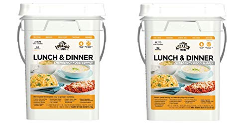 Augason Farms Lunch & Dinner Emergency Food Supply 11 lbs 11.2 oz 4 Gallon Pail (Pack of 2)