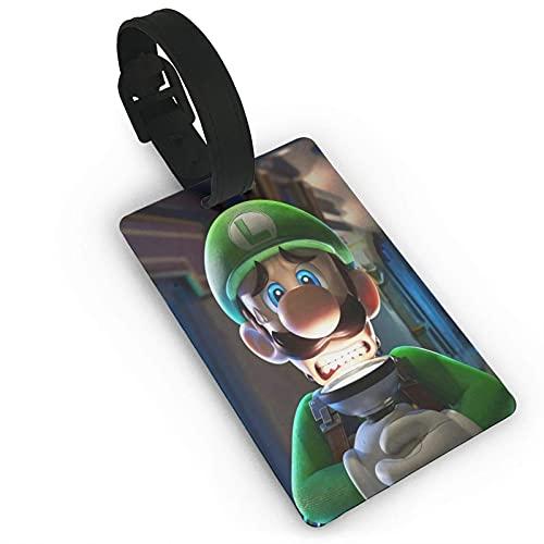 Luigi's_Mansion_Game Etiqueta de equipaje maleta titular de la tarjeta de visita documentos...