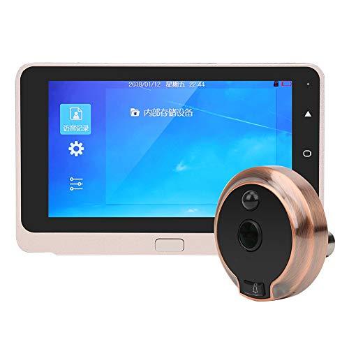 Videoportero HD 720P Pantalla OLED de 5 pulgadas con cámara gran angular de 160 ° Visión nocturna inteligente/Intercomunicador de 2 vías/Movimiento, detección Mirilla digital Sistema de seguridad para