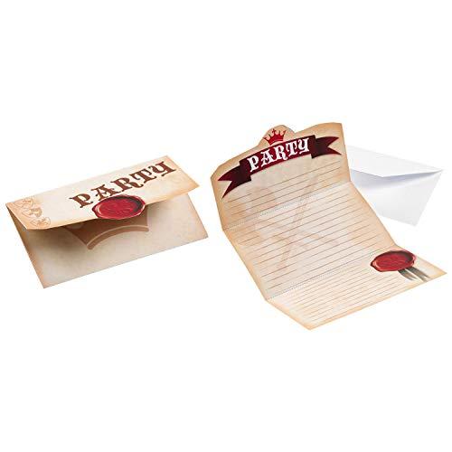 amscan–9900342–8Einladungskarten Ritter