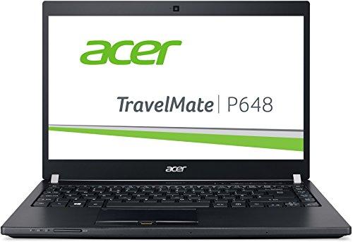Acer TravelMate P648-G2-M-73T0 35,6 cm (14 Zoll Full-HD IPS matt) Laptop (Intel Core i7-7500U, 8GB RAM, 256GB SSD, 1000GB HDD, Intel HD, Win 10 Pro) schwarz