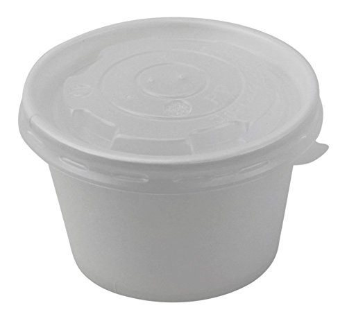 Affordable 100 Count Deli Containers Durable Food Storage Containers with Lids, Hot and Cold Disposable Containers Use for Frozen Desserts, Soups, or Any Food of Your Choice (8oz)