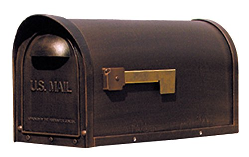Special Lite Products SCC-1008-CP Classic Curbside Mailbox, Copper
