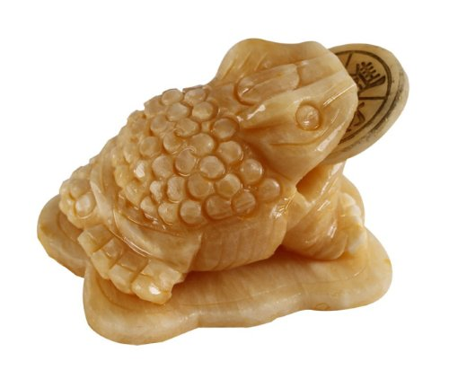Feng-Shui Geldfrosch Geldkröte Glücksbringer aus grünem Marmor Maße: ca.10 x 6 x 5 cm ; ca.508g