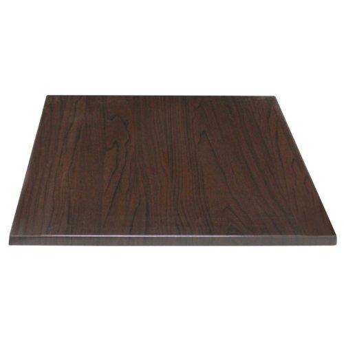 Bolero gg639cuadrado tablero de la mesa, color marrón oscuro