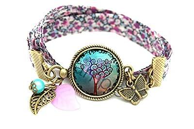 Bracelet bleu violet arbre magique