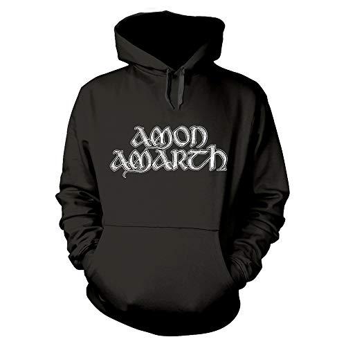 Amon Amarth Grey Skull Kapuzenpullover/Hoodie M