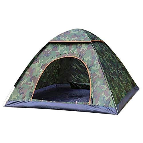 CHHD Tienda para Acampar Tienda de campaña Tipo Domo para 3 Personas con Bolsa de Transporte, Ligera, Impermeable, portátil, para mochileros, para Acampar/Caminar al Aire Libre, 7 'x 8'