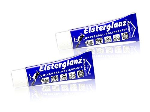 2 x Elsterglanz Universal Polierpaste Metall Waschcreme Reinigung (100ml=6,24€)