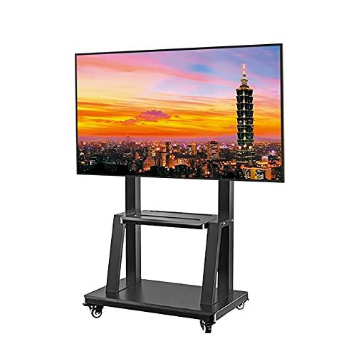 ZXXL Soporte TV Suelo Carro de TV de Servicio Pesado con Ruedas, Soporte de TV de Piso Rodante para TV Exterior de Pantalla Plana LED LCD De 32-70 Pulgadas, Sostiene hasta 120 Kg