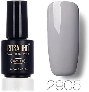 ROSLAIND Gel Nail Polish Soak Off UV LED Esmalte Manicura Pedicura salón 7 ml (gris 1)