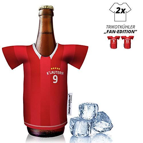 vereins-Trikot-kühler Home für FC Kaiserslautern-Fans | 2er Fan-Edition| 2X Trikots | Fußball Fanartikel Jersey Bierkühler by Ligakakao