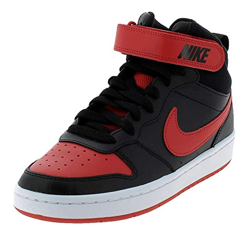 Nike Court Borough Mid 2 (GS), Scarpe da Basket, Black/Univ Red-White, 40 EU