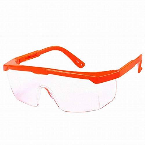 Veiligheidsbril, winddicht, stofdicht, transparante veiligheidsbril, verstelbaar frame. come mostra l'immagine Oranje