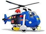Dickie-3308356 Helicóptero, Negro, Azul, Color Blanco (3308356)