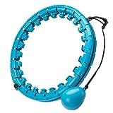 Smart Hula Hoop - Pneumatici per adulti con peso, 24 pezzi, Smart Fitness con nodi massaggianti, pneumatici Smart Hula per bambini, adulti, principianti, per dimagrire, fitness, massaggio
