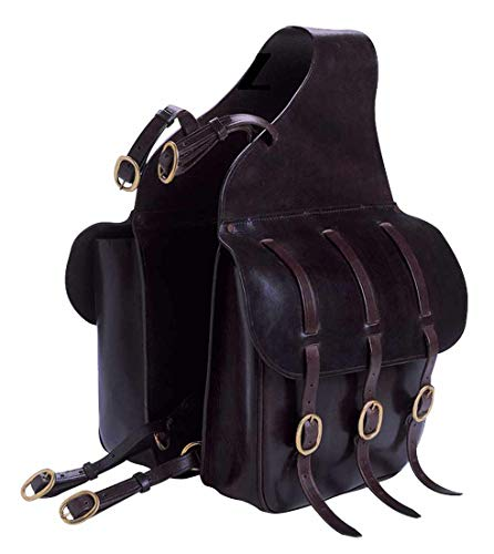 Doppelpacktasche Satteltasche für Pferde, schwarz