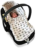 Babycurls Universal Baby Car Seat Fitting Blanket Travel Wrap Double Sided for Newborn Babies Fully Compatible and Fits Through All 3 and 5 Point Carseat Harness Seat Belts Safety (Elephant Love)