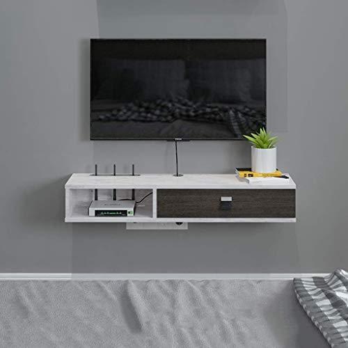 ZY-XSP Schwimmdock Regale Wand- Media Console Schwimm Tv-Ständer Tv-Ständer Moderne Tv-Möbel Kleine Wohnung Wohnzimmer-Wand-Kabinett Set-Top-Box Massivholz-Gestell-Schlafzimmerschrank (F