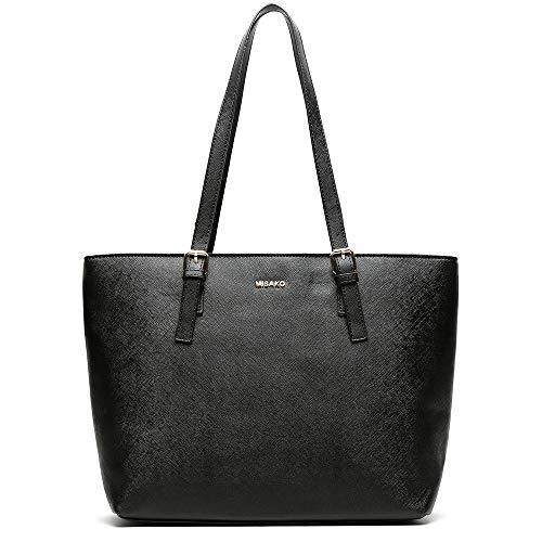 MISAKO - Bolso ASIAN Shopping 15x45x29 cm Símil Piel Negro | Bolso...