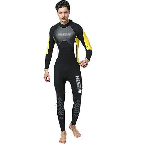 HO-TBO Heren Wetsuit, Heren 3mm Duikpak Lange mouwen Surf Kleding Outdoor Warm Zonbescherming Kleding Snorkeling Suit Ideaal voor Beginners en Sportliefhebbers