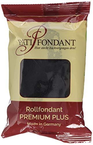 Pati Versand Rollfondant PREMIUM PLUS schwarz, 1er Pack (1 x 250 g)