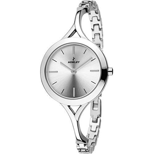 Reloj NOWLEY 8-5719-0-0 - Reloj Mujer WR 3 ATM con Caja y Correa de Metal Plateado.
