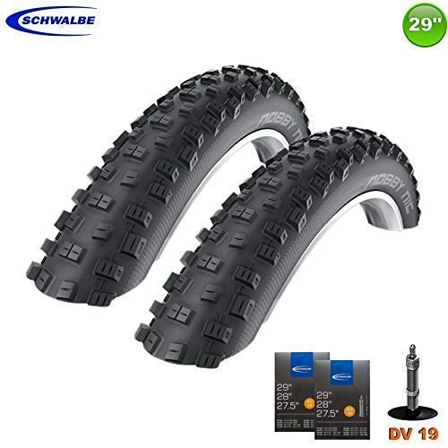 2X Schwalbe Nobby Nic Neumático de la Bicicleta 29 X 2,25 57-622 + 2 Mangueras DV19