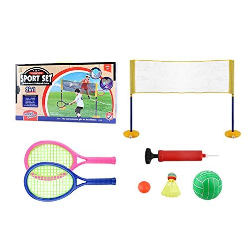 Set de murciélagos para niños Set de bádminton Set Niños Murero Tienda de Tenis más Corta Niños Niños Tenis Racket Playa Tenis Set para niños pequeños