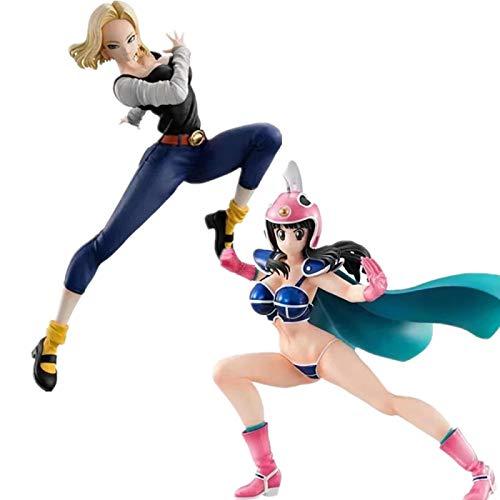 Dragon Ball Z Android 18 Lazuli Chichi Girls Figuras De Acción Modelo De Juguete DBZ Material De PVC Juego De 2