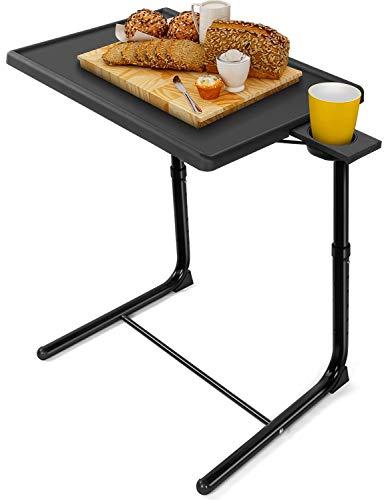 サイドテーブル テーブル おりたたみテーブル ミニテーブル 台 昇降式テーブル ベッドサイドテーブル【6段高さ調節*3段角度調節*折り畳み収納】折りたたみテーブル 折り畳みテーブル【幅52×奥行39×高さ48~68cm*耐荷重13.5kg】コーヒーテーブル サイドテーブルコンパクト 机小さめ サイドデスク サイドテーブルおしゃれ ソファーテーブル ミニデスク【安定性抜群*組み立て簡単】pcテーブル 小さいテーブル 高さ調節テーブル ベッドさいどテーブル ミニ机 簡易テーブル パソコンテーブル 小型テーブル ブラック