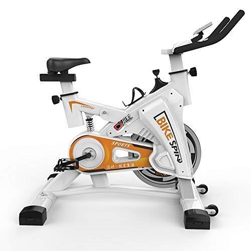 XJWWW-URG La Bici de Ciclo Indoor, Plataforma de Bicicletas con el Monitor LCD for el hogar Cardio Entrenamiento Bicicleta de Entrenamiento Bicicleta estática URG (Color : White)