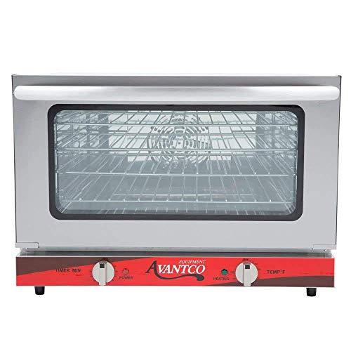 Avantco CO-16 Half Size Countertop Convection Oven, 1.5 Cu. Ft. - 120V, 1600W