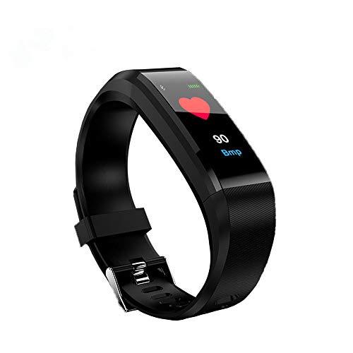 Riou Smartwatch, Impermeable Reloj Inteligente con Cronómetro, Pulsera Actividad Inteligente para Deporte,Monitor de Actividad física Pantalla a Color Monitor de frecuencia cardíaca