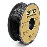 Amazon Brand-Eono Filamento PETG Sin Enredos para Impresora 3D, 1.75mm(± 0.03 mm), Negro Filamento de impresión 3D 1kg.