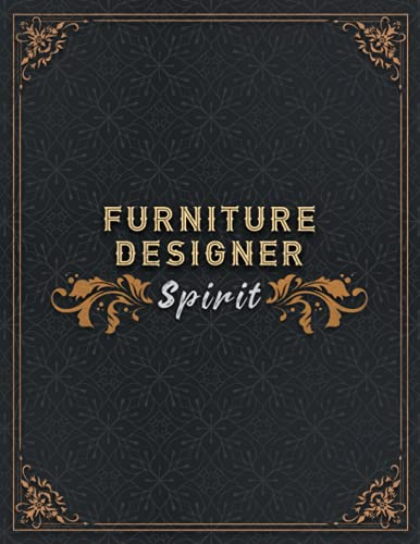 Furniture Designer Lined Notebook - Furniture Designer Spirit Job Title Working Cover To Do Journal: Homework, 21.59 x 27.94 cm, To Do, Small ... , A4, Homeschool, 8.5 x 11 inch, 110 Pages