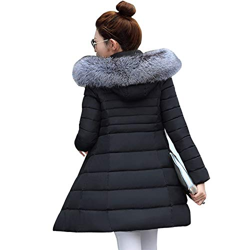Have Fun With U Elegant Long Sleeve Warm Parkas Slim Women's Jacket Lady Coat Winter Hooded Jacket Coat,Colour 1,L