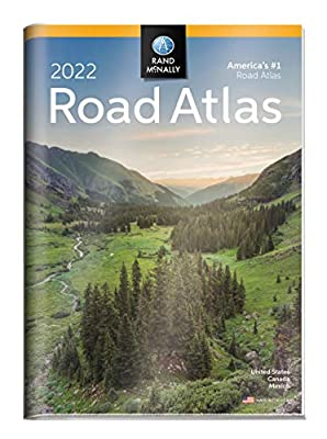 2022 Road Atlas With Protective Vinyl Cover (Rand McNally Road Atlas United States/Canada/Mexico (GIFT EDITION))