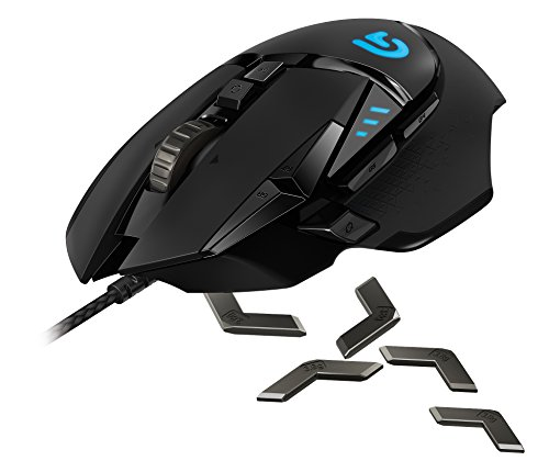 Logitech G502 Proteus Spectrum RGB Tunable Gaming Mouse, 12,000 DPI On-The-Fly DPI Shifting,...