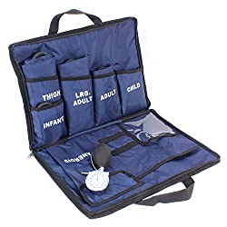 powerful Dixie EMS 5 Aneroid System with Blood Pressure – Toddlers, Children, Adults, Tall Adults, Hips (Blue)