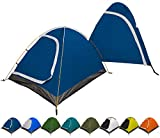 REVALCAMP 3-in-1 Camping Tent - Blue - Waterproof & Windproof 4 Season Tents for Camping, Backpacking & Hiking - Ultralight & Durable - Easy to Set-up 2 Person Tent
