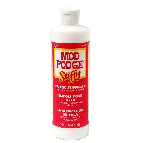 Plaid:Craft Plaid: Craft Liquid Stiffy Stoff stiffener-16 oz, Transparent, 473 ML