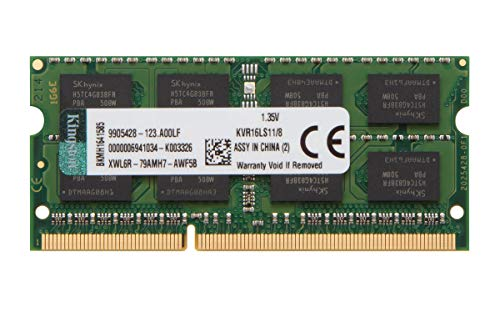 Kingston Technology 8GB 1600MHz DDR3L (PC3-12800) 1.35V Non-ECC CL11 SODIMM Intel Laptop Memory…