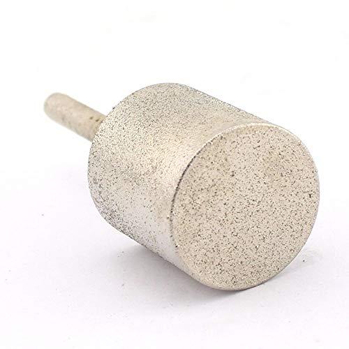12-40 mm Grano 80 Cilindro grueso Broca de cabeza de esmerilado de diamante Puntos cilíndricos Tallado de jade revestido s Herramientas lapidarios para piedra, 18 mm