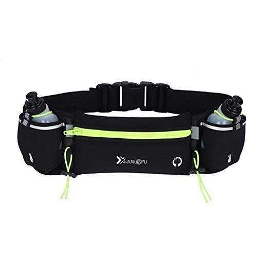 LIANYG Pocket Bag Esecuzione Trail Running Bottiglia Cintura for telefoni Sport Unisex Pacchetto di Fanny Fitness Marsupio Acqua Marsupio Running 644 (Color : Green with 2 Bottle)