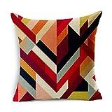 SYDDP cojín Serie de geometría Cojines de Almohada de algodón y Lino 45 cm x...