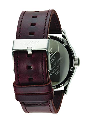 Nixon Homme Analogique Quartz Montre avec Bracelet en Cuir A105-1524-00
