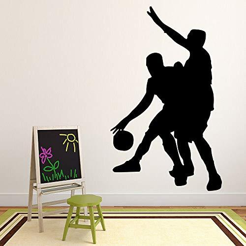Tianpengyuanshuai Jugador de Baloncesto Etiqueta de la Pared Dormitorio Adolescente decoración del hogar Vinilo Ventana Pegatina Estadio Fondo de Pantalla 102x61cm