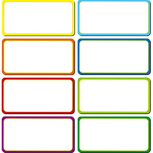 40 Pieces Magnetic Dry Erase Labels Name Plate Tags Flexible Magnetic Label Stickers for Whiteboards Refrigerator Crafts (Color B, 4 x 2 inch)