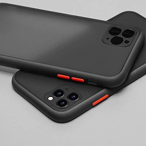 Custodia Protettiva per Telefono per iPhone 11 PRO Max X XR XS Max 6S 8 7 Plus Matte Clear Antiurto in Silicone Morbido TPU Cover Trasparente,Black,for iPhone 7 Plus